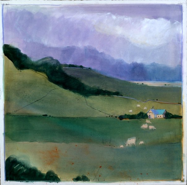 California Landscapes #6, watercolor m/m