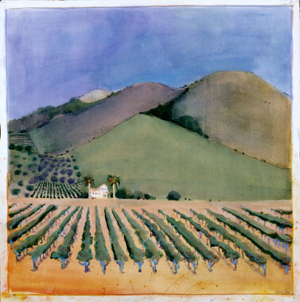 California Landscapes #7, watercolor m/m