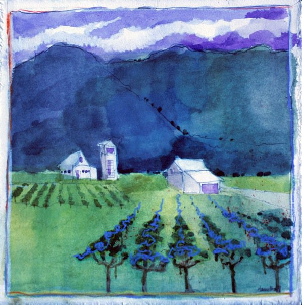 California Landscapes #9, watercolor m/m