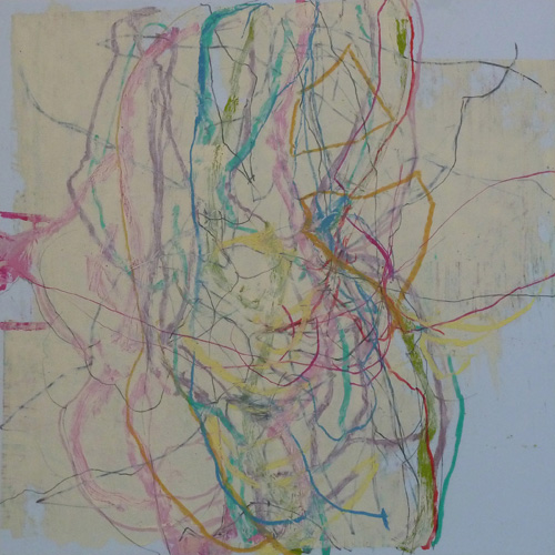 Between the Lines (2011) mixed media, 21.25 x 21.25